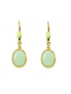 Damen Goldschmuck 585 Gold Ohrringe / Ohrhänger mit Opal 1001 Diamonds blau