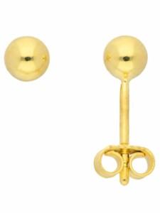 1001 Diamonds Damen Goldschmuck 585 Gold Ohrringe / Ohrstecker Ø 4 mm 1001 Diamonds gold