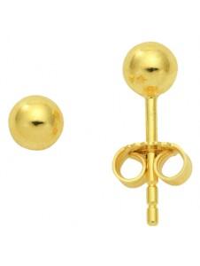 Damen Goldschmuck 585 Gold Ohrringe / Ohrstecker Ø 4 mm 1001 Diamonds gold