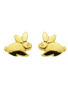 Damen Goldschmuck 585 Gold Ohrringe / Ohrstecker Hase 1001 Diamonds gold
