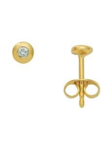 Damen Goldschmuck 585 Gold Ohrringe / Ohrstecker mit Brillant Ø 4,2 mm 1001 Diamonds gold