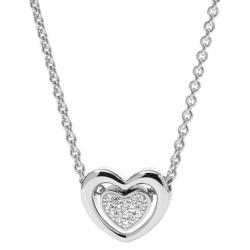 Damen-Halskette von Fossil Valentine Silber JFS 00300 040
