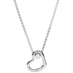 Damen-Halskette von Fossil Valentine Silber JFS 00359 040