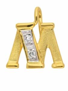 1001 Diamonds Damen & Herren Goldschmuck 585 Gold Buchstabenanhänger mit Diamant 1001 Diamonds gold