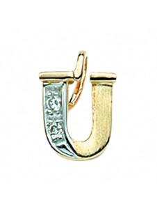 Damen & Herren Goldschmuck 585 Gold Buchstabenanhänger mit Diamant 1001 Diamonds gold