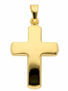 1001 Diamonds Damen & Herren Goldschmuck 585 Gold Kreuz Anhänger 1001 Diamonds gold