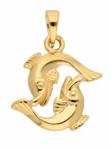 1001 Diamonds Damen & Herren Goldschmuck 585 Gold Sternzeichen Anhänger Fisch 1001 Diamonds gold