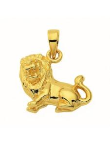 Damen & Herren Goldschmuck 585 Gold Sternzeichen Anhänger Löwe 1001 Diamonds gold