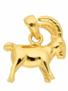 1001 Diamonds Damen & Herren Goldschmuck 585 Gold Sternzeichen Anhänger Steinbock 1001 Diamonds gold