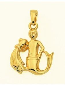 Damen & Herren Goldschmuck 585 Gold Sternzeichen Anhänger Wassermann 1001 Diamonds gold