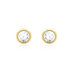 Damen Ohrstecker aus 14K Gold mit Diamanten