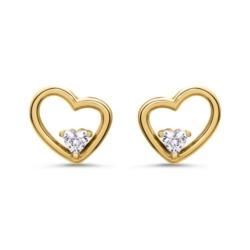 Damen Ohrstecker Herzen aus vergoldetem 925er Silber