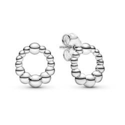 Damen Ohrstecker im Dot-Design aus 925er Silber