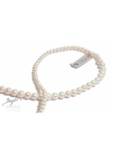Damen Perlenschmuck Süsswasser Perlen Collier ( 90 cm ) DI PERLE weiß