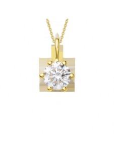 Damen Schmuck Anhänger aus 750 Gelbgold mit 0,25 ct Diamant mit Zertifikat One Element gold