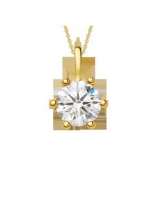 Damen Schmuck Anhänger aus 585 Gelbgold mit 0,4 ct Diamant mit Zertifikat One Element gold