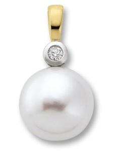 Damen Schmuck Anhänger aus 585 Gelbgold mit 0,02 ct Diamant One Element gold