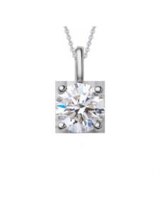 Damen Schmuck Anhänger aus 950 Platin mit 0,3 ct Diamant mit Zertifikat One Element silber