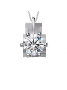 Damen Schmuck Anhänger aus 585 Weißgold mit 0,4 ct Diamant mit Zertifikat One Element silber