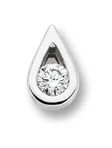 Damen Schmuck Anhänger aus 585 Weißgold mit 0,05 ct Diamant One Element silber