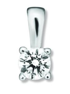 Damen Schmuck Anhänger aus 585 Weißgold mit 0,1 ct Diamant One Element silber