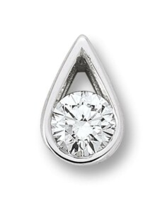Damen Schmuck Anhänger aus 585 Weißgold mit 0,15 ct Diamant One Element silber