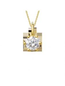 Damen Schmuck Anhänger aus 750 Gelbgold mit 0,15 ct Diamant mit Zertifikat One Element gold
