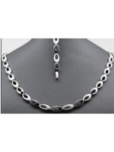 Damen Schmuck Halskette aus 925 Silber One Element silber
