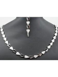 Damen Schmuck Halskette aus 925 Silber Zirkonia 42 cm One Element silber