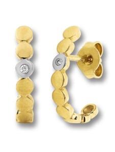 Damen Schmuck Ohrringe / Ohrstecker aus 585 Gelbgold mit 0,02 ct Diamant One Element gold