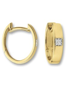 Damen Schmuck Ohrringe / Ohrstecker aus 585 Gelbgold mit 0,03 ct Diamant One Element gold