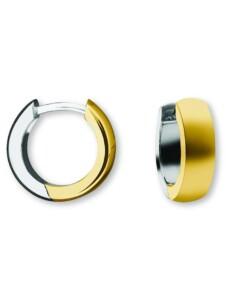 Damen Schmuck Orhringe / Creolen aus 585 Gelbgold Ø 12,0 x 4,0 mm One Element gold