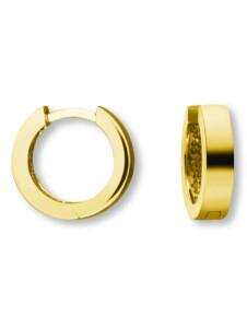 Damen Schmuck Orhringe / Creolen aus 585 Gelbgold Ø 12,5 x 3,0 mm One Element gold