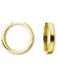 Damen Schmuck Orhringe / Creolen aus 585 Gelbgold Ø 16,0 x 2,0 mm One Element gold