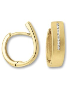 Damen Schmuck Orhringe / Creolen aus 585 Gelbgold mit 0,09 ct Diamant One Element gold
