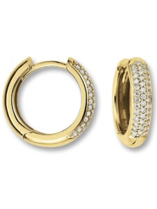 Damen Schmuck Orhringe / Creolen aus 585 Gelbgold mit 0,25 ct Diamant One Element gold