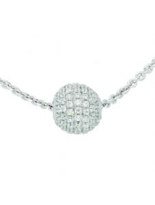 Damen Silberschmuck 925 Silber Anker Anhänger mit Zirkonia 42 cm Ø 1,4 mm 1001 Diamonds silber