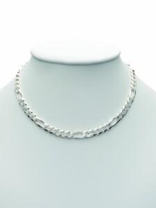 Damen Silberschmuck 925 Silber Figaro Halskette 45 cm 1001 Diamonds silber