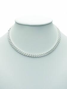 Damen Silberschmuck 925 Silber Flach Panzer Halskette 45 cm 1001 Diamonds silber