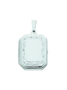 Damen Silberschmuck 925 Silber Medaillon Anhänger 1001 Diamonds silber