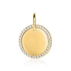 Damenanhänger aus vergoldetem 925er Silber mit Zirkonia