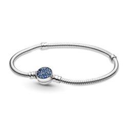 Damenarmband aus 925er Silber mit blauen Kristallen