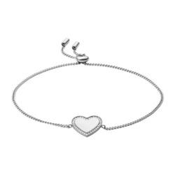 Damenarmband Herz aus Edelstahl, gravierbar