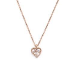 Damenkette Florella Ciao aus Edelstahl, rosévergoldet