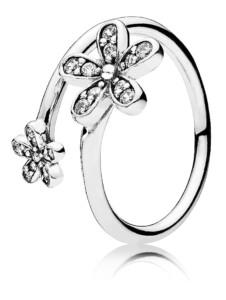 Damenring, 925 Pandora Weiß