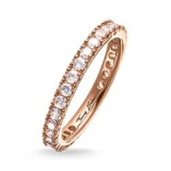 Damenring aus rosévergoldetem 925er Silber mit Zirkonia