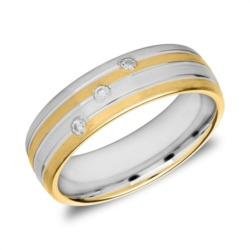 Damenring aus teilvergoldetem 925er Silber mit Zirkonia