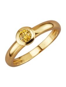 Damenring Diemer Diamant Gelb