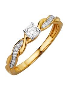 Damenring Diemer Diamant Gelbgoldfarben