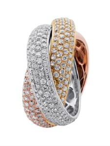 Damenring Diemer Diamant Multicolor